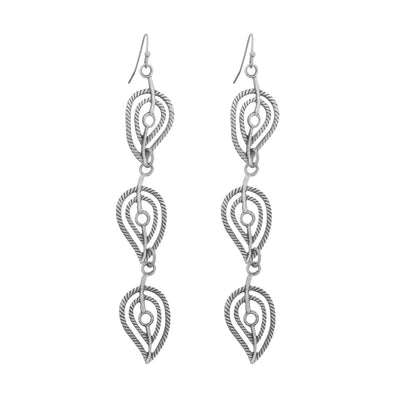 ANJA Long Leaf Earrings