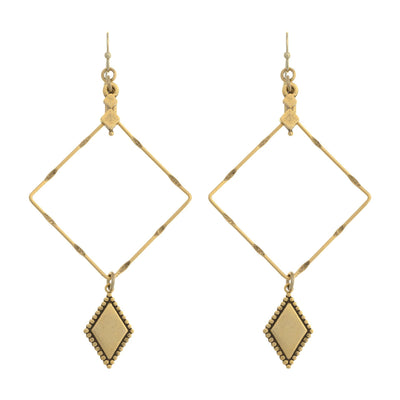 CC Diamond Drop Earrings