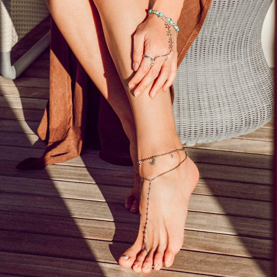 BLUE LAGOON Foot Chain
