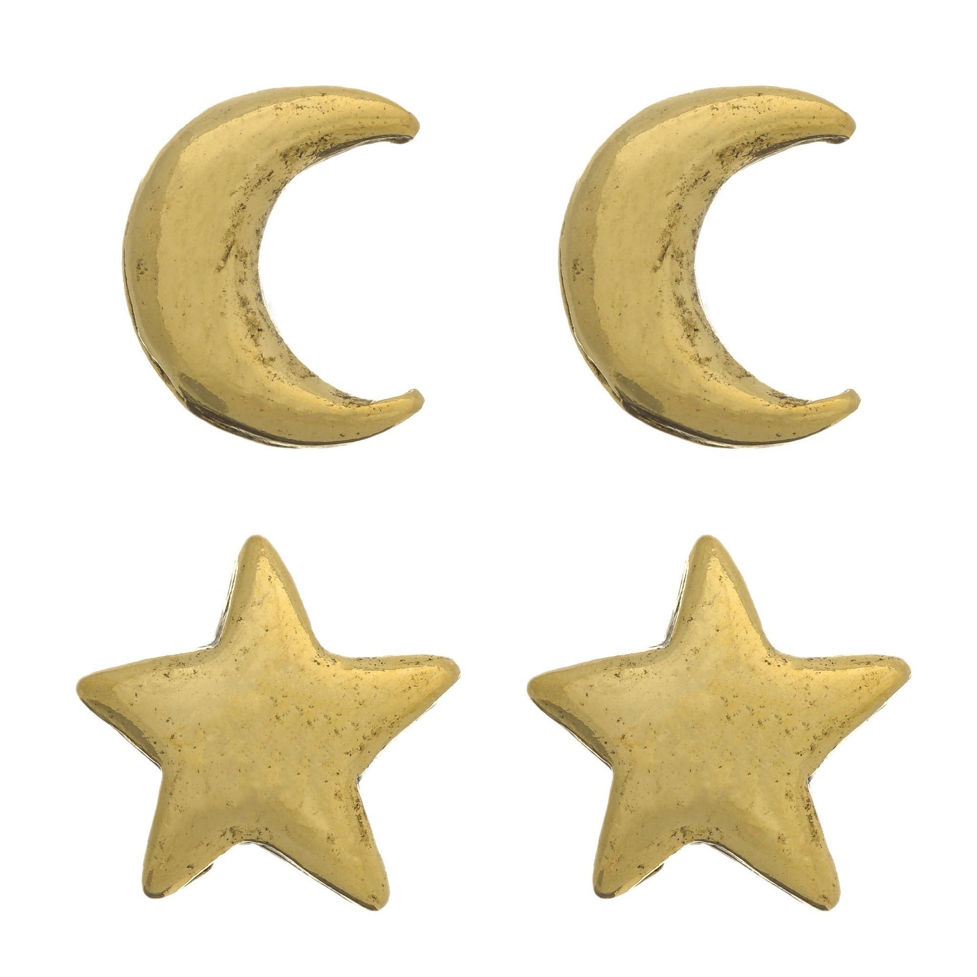STAR AND MOON Stud Earring Set