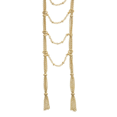 JULES Ladder Necklace - Gold | Modern boho jewelry | Criscara