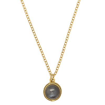 CASBAH Necklace - gold + hematite