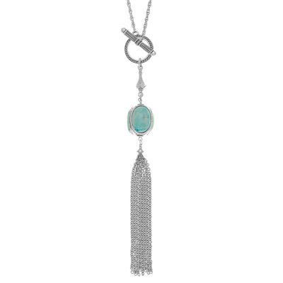 INARA Long Fringe Pendant Necklace