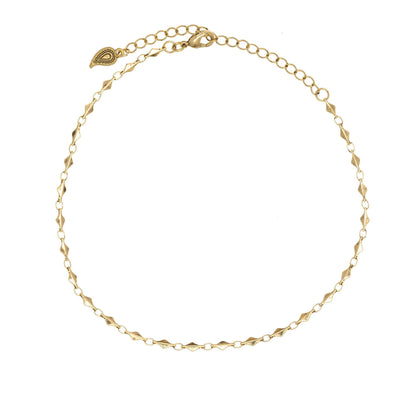 Wanderess Dainty Metal Choker in 14k gold finish | Modern boho jewelry | Criscara