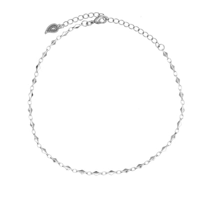 Wanderess Dainty Metal Choker in silver finish | Modern boho jewelry | Criscara
