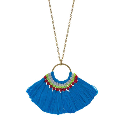 GOLD COAST Tassel Pendant Necklace
