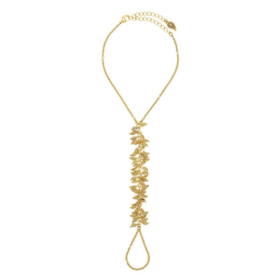 FARRAH Feather Foot Chain