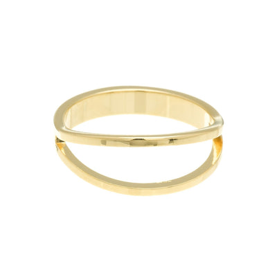 Open Split Ring in 14k gold finish size 3 | Modern boho jewelry | Criscara