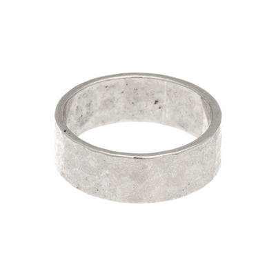 Hammered Band Ring in silver finish size 4 | Modern boho jewelry | Criscara