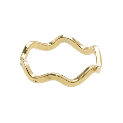 Wavy Stacking Ring in 14k gold finish size 3 | Modern boho jewelry | Criscara
