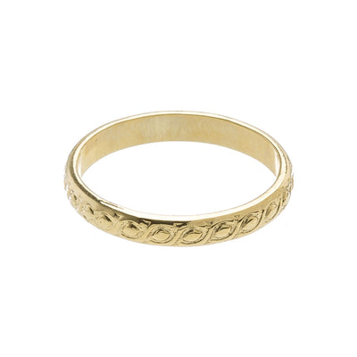 Stacking Ring in 14k gold finish size 4 | Modern boho jewelry | Criscara