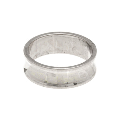 Concave Band Ring in silver finish size 4 | Modern boho jewelry | Criscara