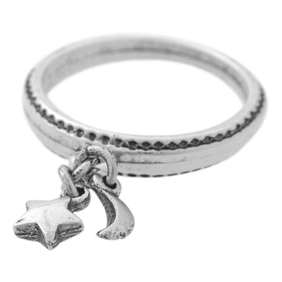 STAR AND MOON Charm Ring
