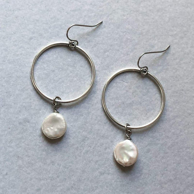 INTUITION Hoop Drop Earrings