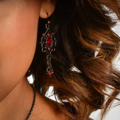 VICTORIAN SCARLETT Drop Earrings | Modern boho jewelry | Criscara