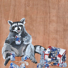 Load image into Gallery viewer, PBR Raccoon Mini Print / Card