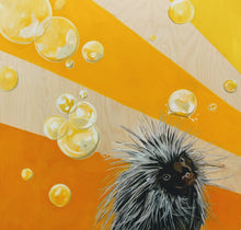 Load image into Gallery viewer, Yellow Porcupine Mini Print / Card