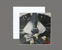 Load image into Gallery viewer, Raccoon Pop Mini Print / Card