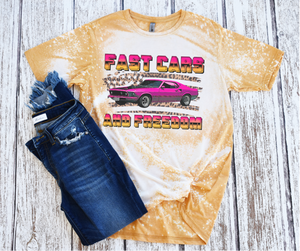 Fast Cars and Freedom Tee - Tie Dye