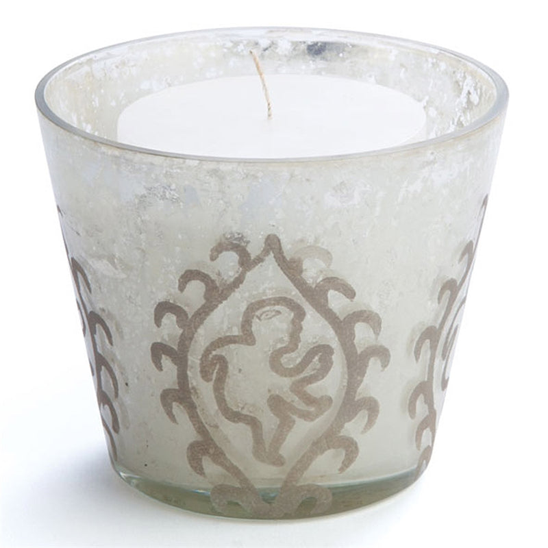 HAYWORTH PAISLEY ETCHED VOTIVE, 4.5x4.5x4.5 Inches