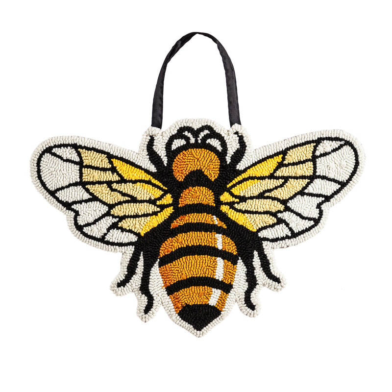 Evergreen Flag Bee Hooked Door Décor Durable and Well Made Home and Garden Décor for Lawn Patio Yard