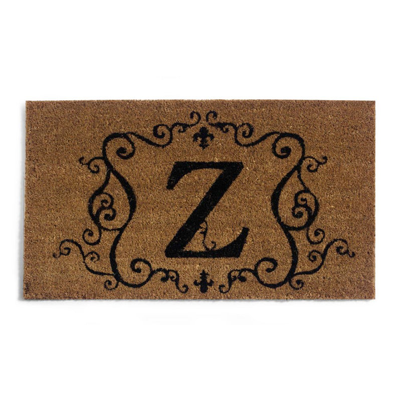 Traditional Coir Mat Insert with Z Monogram
