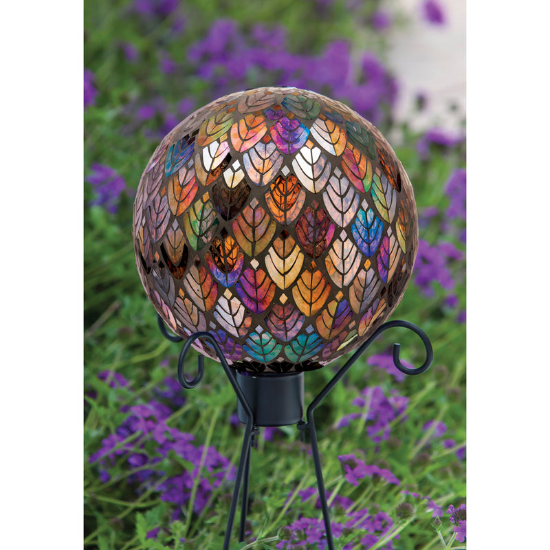 "Evergreen 10"" Baroque Splendor Mosaic Gazing Ball, 10'' x 10'' x 10'' inches."