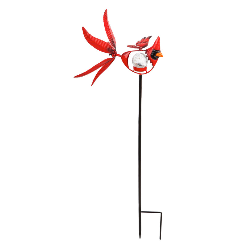 "Evergreen 38""H Solar Cardinal Staked Wind Spinner, 11''x 12'' x 38'' inches"