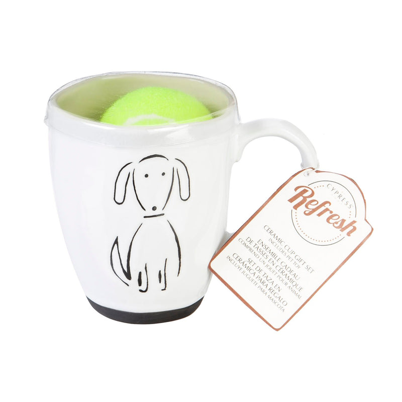 Evergreen Ceramic Cup Gift Set, 16 OZ, Pet Dog, 5.5'' x 3.8'' x 4.5'' inches