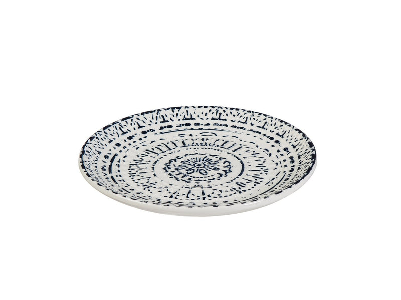 Cypress Home Inkwell Ceramic Debossed Salad Plate