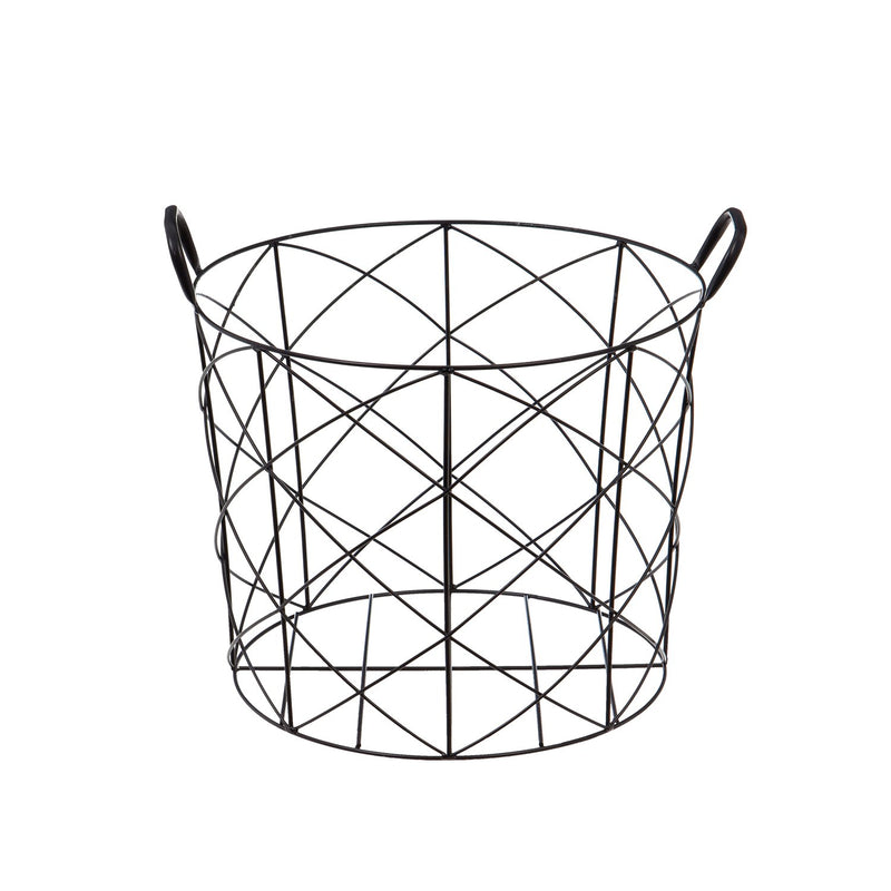 Evergreen Metal Basket Display, 16'' x  16'' x 13'' inches.