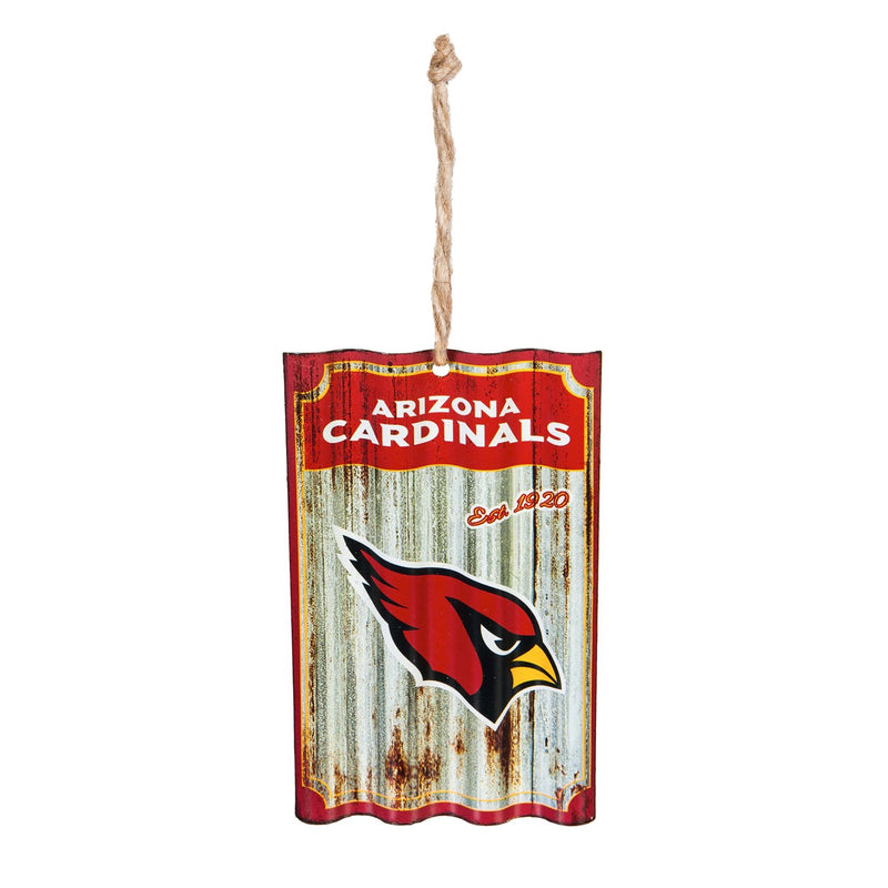 Team Sports America Arizona Cardinals, Metal Corrugate Ornament, 3.25'' x 5 '' x 0.5'' inches