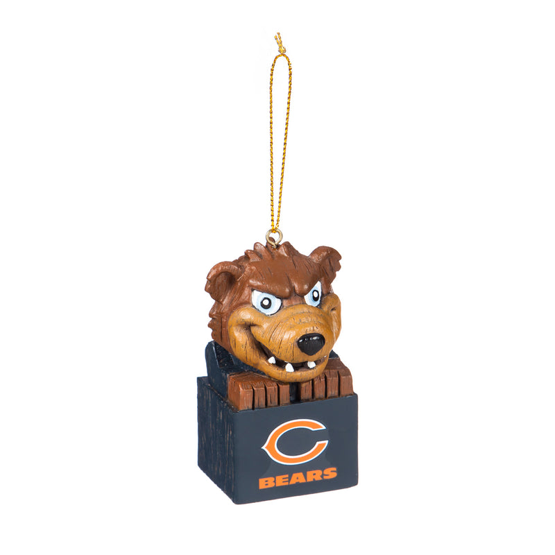Evergreen Enterprises Mascot Ornament,  Chicago Bears, 1.5'' x 3.5 '' x 1.6'' inches