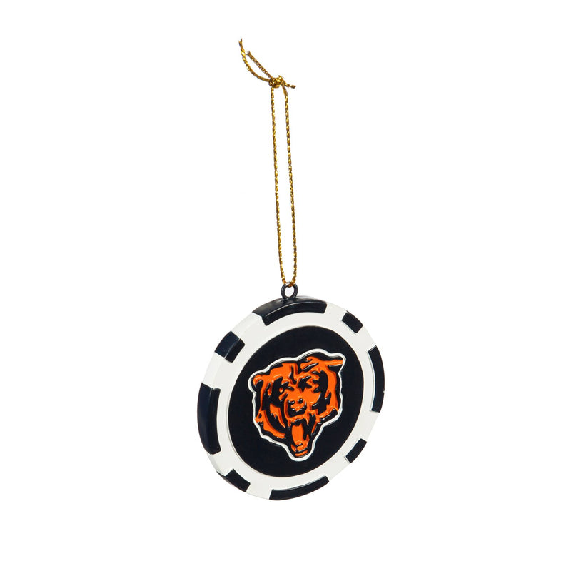 Evergreen Enterprises Game Chip Ornament, Chicago Bears, 2.5'' x 2.5 '' x 0.25'' inches