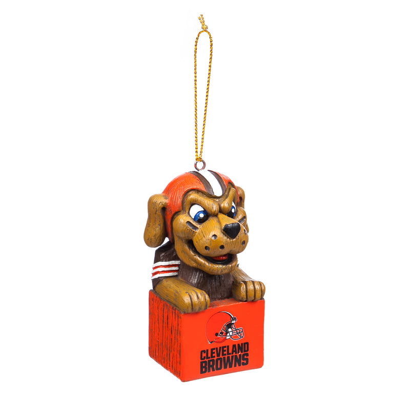 Evergreen Enterprises Mascot Ornament,  Cleveland Browns, 1.5'' x 3.5 '' x 1.6'' inches