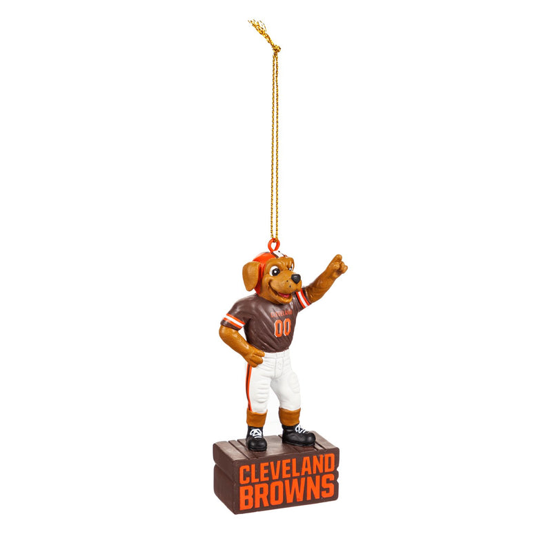 Evergreen Cleveland Browns, Mascot Statue Orn, 2.56'' x 1.38 '' x 3.5'' inches