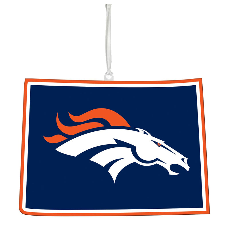 Evergreen Denver Broncos, State Ornament, 5.3'' x 0.2 '' x 5.1'' inches