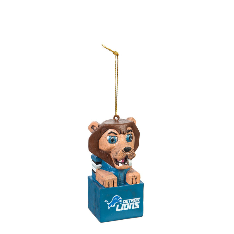 Team Sports America Detroit Lions NFL Tiki Totem Mascot Ornament
