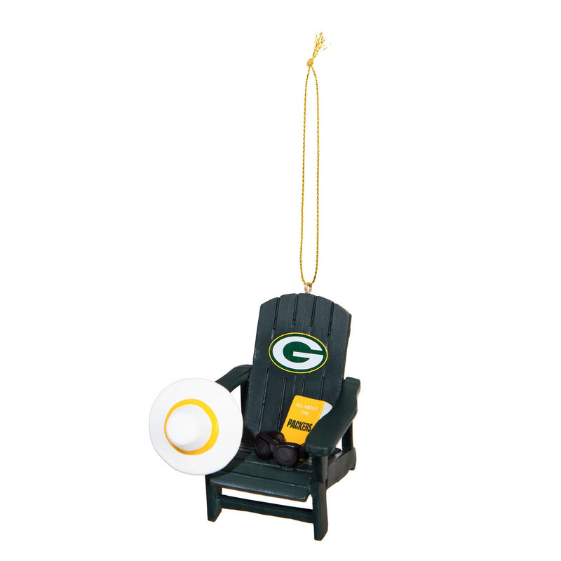 Evergreen Enterprises Green Bay Packers, Adirondack Ornament, 2.91'' x 3.35 '' x 2.87'' inches
