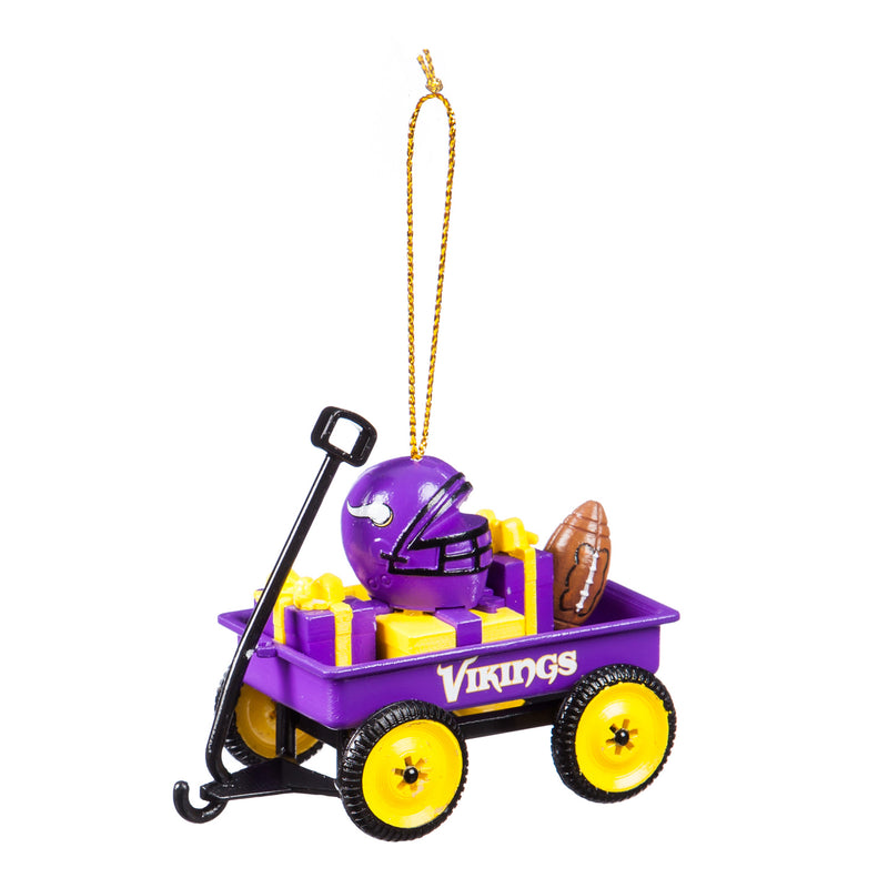 Team Sports America Team Wagon Ornament, Minnesota Vikings, 3.13'' x 1.75 '' x 2.5'' inches