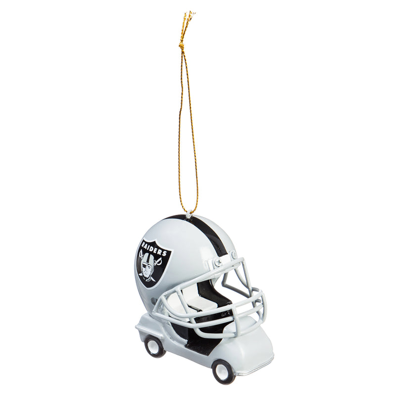 Evergreen Enterprises Oakland Raiders, Field Car Ornament, 2.95'' x 2.17 '' x 2.95'' inches