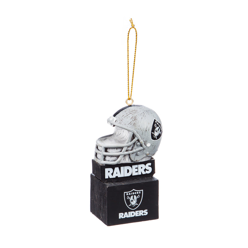 Team Sports America Mascot Ornament,  Oakland Raiders, 1.5'' x 3.5 '' x 1.6'' inches