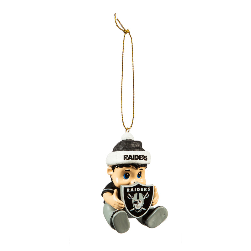 Evergreen Oakland Raiders, New Lil Fan, 1.75'' x 2 '' x 3'' inches