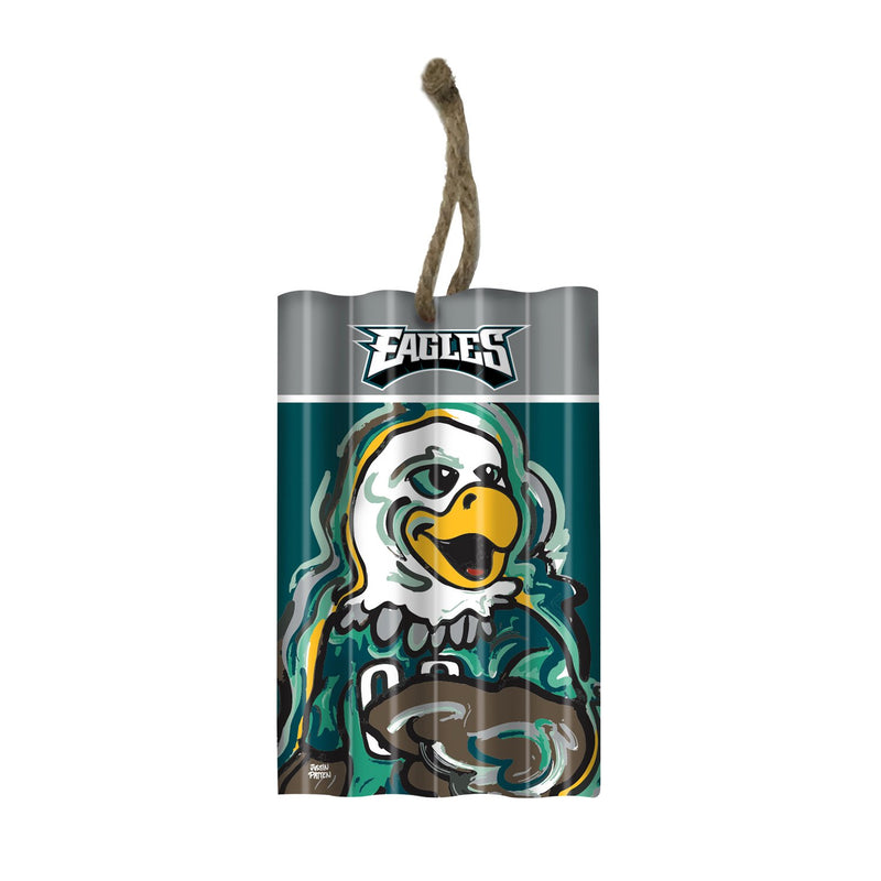 Evergreen Philadelphia Eagles, Corrugate Orn Justin Patten, 3.25'' x 0.5 '' x 5'' inches