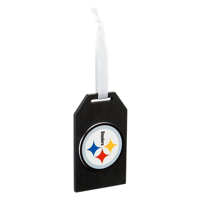 Evergreen Pittsburgh Steelers,Gift Tag Ornament, 3'' x 0.9 '' x 5'' inches