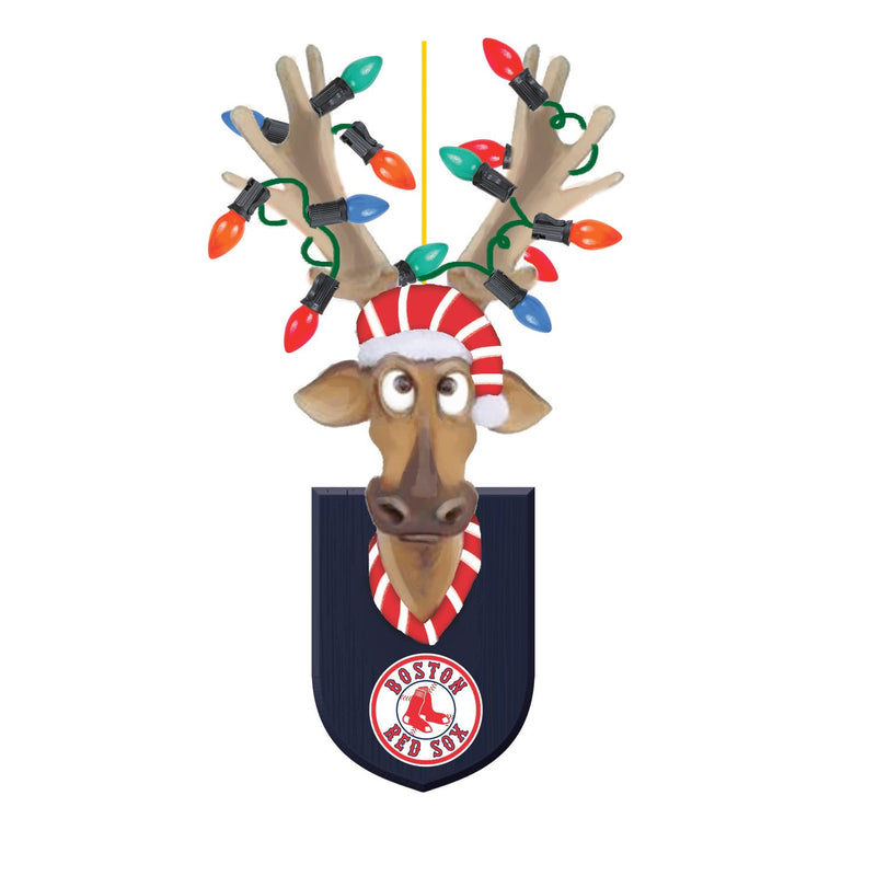 Evergreen Boston Red Sox, Resin Reindeer Orn, 1.57'' x 2.36 '' x 4.02'' inches