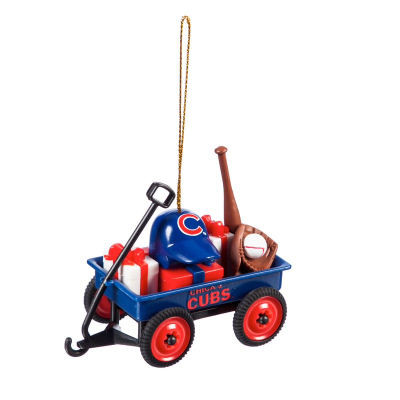 Evergreen Enterprises Team Wagon Ornament, Chicago Cubs, 3.13'' x 2.5 '' x 1.75'' inches