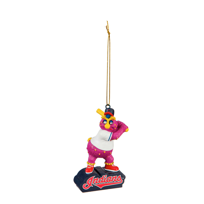 Evergreen Cleveland Indians, Mascot Statue Orn, 2.56'' x 1.38 '' x 3.5'' inches