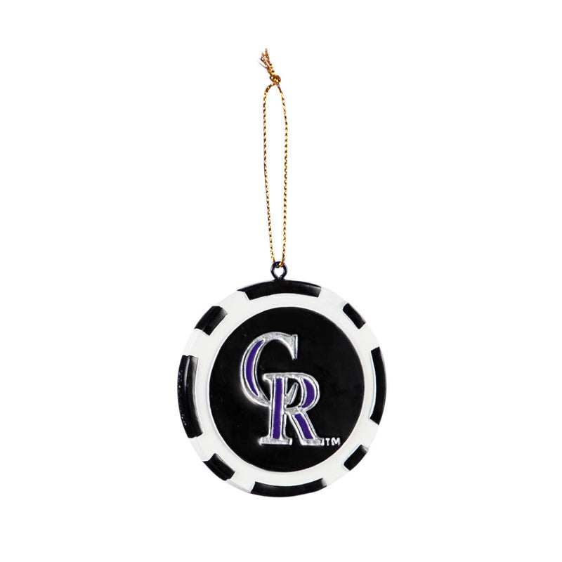 Evergreen Game Chip Ornament, Colorado Rockies, 2.5'' x 2.5 '' x 0.25'' inches