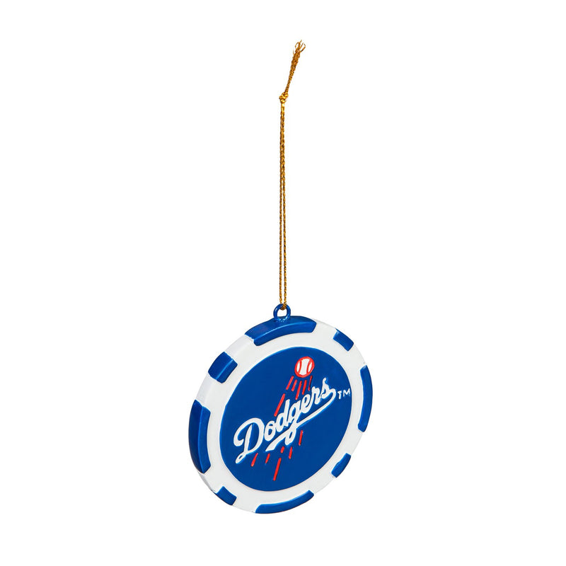 Evergreen Los Angeles Dodgers, Game Chip Ornament, 2.5'' x 2.5 '' x 0.25'' inches